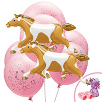 Western Cowgirl Jumbo Balloon Bouquet Kit