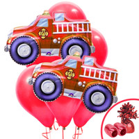 Firefighter Jumbo Balloon Bouquet Kit