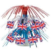 British Flag Mini Cascade Centerpiece