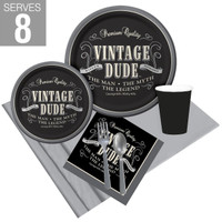 Vintage Dude Party Pack For 8