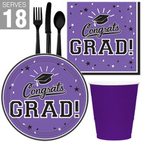 Congrats Grad Purple Party Pack For 18