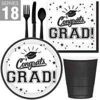 Congrats Grad White Party Pack For 18