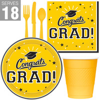 Congrats Grad Yellow Party Pack For 18