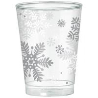 Snowflake Plastic 10oz Tumblers (40)