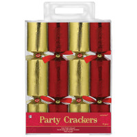 Red & Gold Foil Crackers (8)