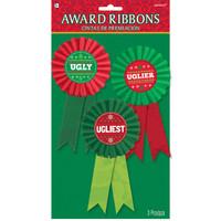 Ugly Sweater Award Ribbons (3)