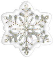 Snowflake Shaped Plate (8)