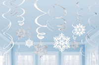 Snowflake Swirl Decorations (12)