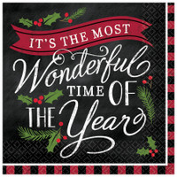 Most Wonderful Time of Year Beverage Napkin (16)