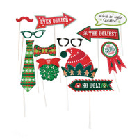 Ugly Sweater Photo Stick Props (12pc)
