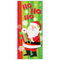 """Happy Santa Door Poster 27"""" x 60"""""""