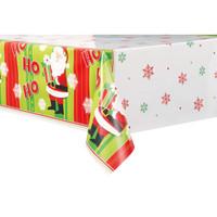 """Happy Santa Tablecover 54"""" x 84"""""""