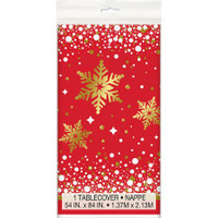 "Gold Sparkle Christmas Tablecover 54"" x 84"""