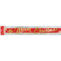 Gold Sparkle Christmas Foil Banner 12Ft
