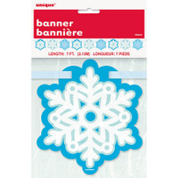 Snowflake Cut Out Banner 7ft