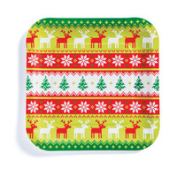 "Ugly Sweater 9"" Lunch Plate (8)"