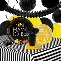 Mama To Bee 16 Guest Party Pack + Deco Kit