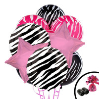 Zebra Balloon Bouquet