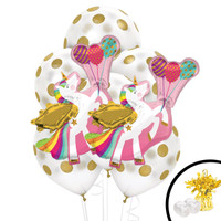 Unicorn/Balloon Jumbo Balloon Bouquet