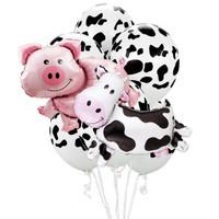 Farm Animal – Pig & Cow Jumbo Balloon Bouquet