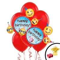 Emoji Wishes Jumbo Balloon Bouquet