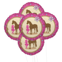 Western Cowgirl Party 5pc Foil Balloon Kit