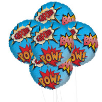 Superhero Comics 5pc Foil Balloon Kit