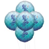 Mermaids Under The Sea 5pc Foil Balloon Kit