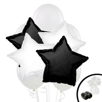 Black & White Balloon Bouquet