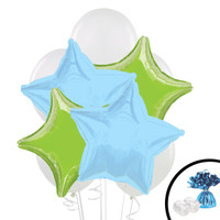 Lime Green & Blue Balloon Bouquet