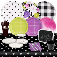 Fancy Floral 32 Guest Pack & Serveware