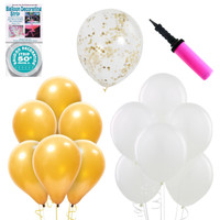 Ombre Balloon Kit - Gold & White