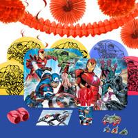 Epic Avengers 16 Guest Party Pack + Deco Kit