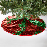 Red & Green Reversible Sequin Tree Skirt
