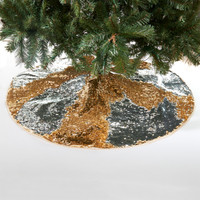 Gold & Silver Reversible Sequin Tree Skirt