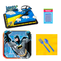 Batman Tableware and Cake Topper Kit