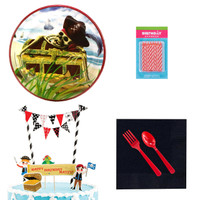 Pirates Tableware and Cake Topper Kit