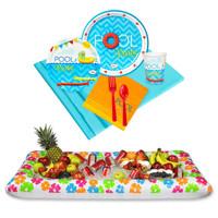 Pool Party Tableware & Cooler Kit