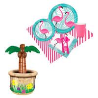Pink Flamingos Tableware & Cooler Kit