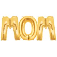 Jumbo Gold Foil Balloons-MOM