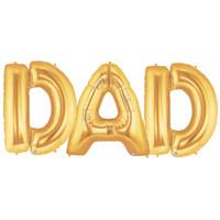 Jumbo Gold Foil Balloons-DAD
