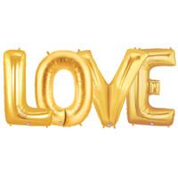 Jumbo Gold Foil Balloons-LOVE