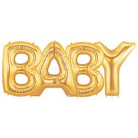 Jumbo Gold Foil Balloons-BABY