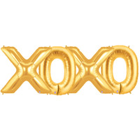 Jumbo Gold Foil Balloons-XOXO