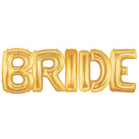 Jumbo Gold Foil Balloons-BRIDE