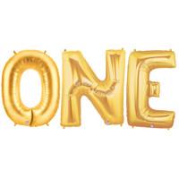 Jumbo Gold Foil Balloons-ONE