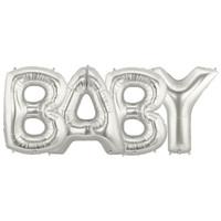 Jumbo Silver Foil Balloons-BABY