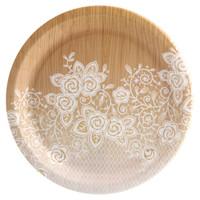 Blooming Elegance Wood Floral Dinner Plate (8)