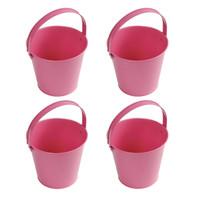 Pink Metal Buckets (4)
