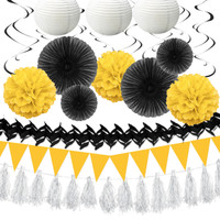 Black & Yellow Paper Decorating Kit
